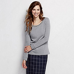 Lands' End - Grey women's pearl embellished top
