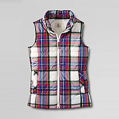 Lands' End - Multi girls' plaid insulated gilet