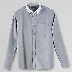 Lands' End - Grey men's long sleeved contrast collar sail rigger oxford shirt