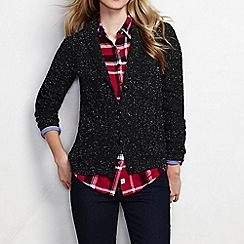 Lands' End - Black women's drifter shawl collar cardigan