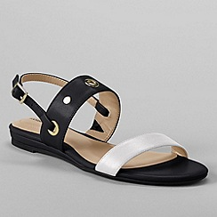 Lands' End - Black women's regular neve flat sandals