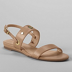 Lands' End - Beige women's regular neve flat sandals