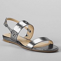 Lands' End - Grey women's regular neve flat sandals