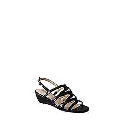 Lands' End - Black georgina low wedge sandals