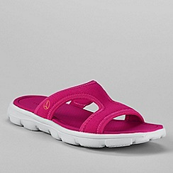 Lands' End - Pink women's gatas slip on sandals