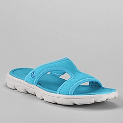 Lands' End - Blue women's gatas slip on sandals