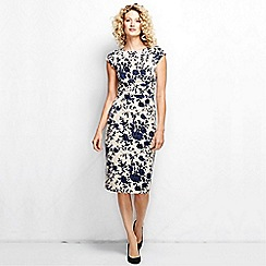 Lands' End - Multi women's regular printed velvet shift dress
