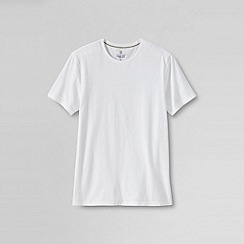 Lands' End - White men's slim fit washed cotton t-shirt
