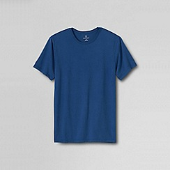 Lands' End - Blue men's slim fit washed cotton t-shirt