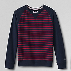 Lands' End - Blue men's french terry crew