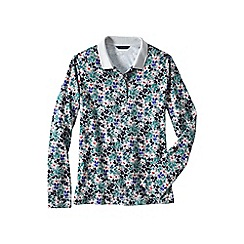 Lands' End - Multi slim fit dot print long sleeve pima polo