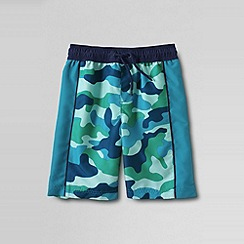 Lands' End - Blue boys' pattern side pieced swim trunks