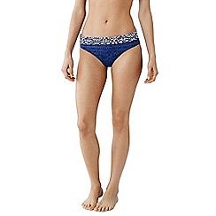 Lands' End - Blue beach living reversible bikini bottoms