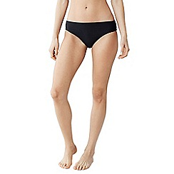 Lands' End - Black women's coastal spirit mid rise swimsuit bottoms