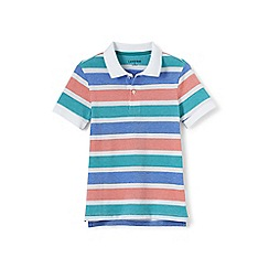 Lands' End - Boys' multicoloured oxford stripe pique polo
