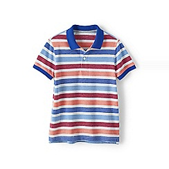 Lands' End - White boys' oxford stripe pique polo