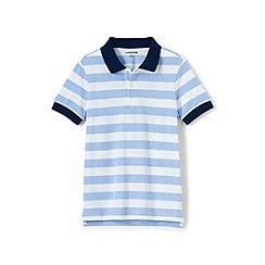 Lands' End - Boys' blue oxford stripe pique polo
