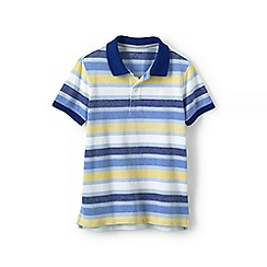 Lands' End - Multi boys' oxford stripe pique polo