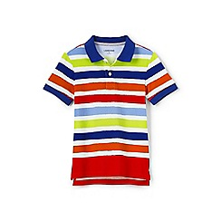 Lands' End - Boys' multicoloured short sleeve print mesh polo shirt