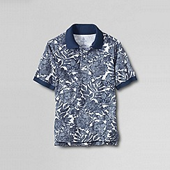 Lands' End - Multi boys' short sleeve print mesh polo shirt