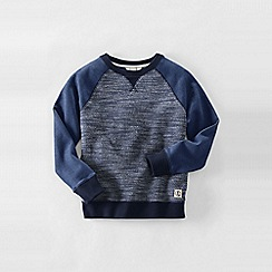 Lands' End - Blue little boys' boucle sweatshirt