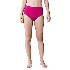 Lands' End - Pink women's beach living high rise bikini bottoms - tummy control