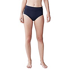 Lands' End - Blue women's beach living high rise bikini bottoms - tummy control
