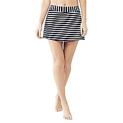 Lands' End - Blue beach living swimmini skirt with tummy control