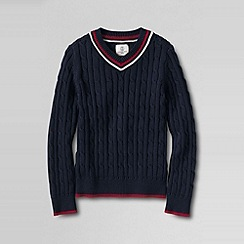 Lands' End - Blue little boys' cricket sweater