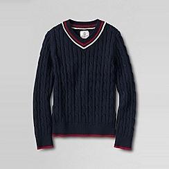 Lands' End - Blue boys' cricket sweater