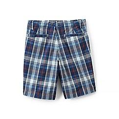 Lands' End - Blue boys' plaid cadet shorts