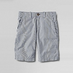 Lands' End - Blue boys' seersucker cadet shorts