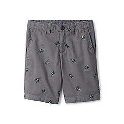 Lands' End - Boys' grey patterned seersucker cadet shorts