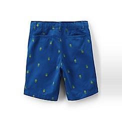 Lands' End - Blue boys' patterned seersucker cadet shorts