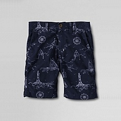 Lands' End - Blue boys' patterned seersucker cadet shorts