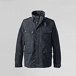 Lands' End - Grey men's 4 pocket biker jacket