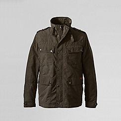 Lands' End - Brown men's 4 pocket biker jacket