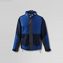 Lands' End - Blue men's rain shell jacket