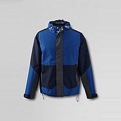 Lands' End - Blue men's rain shell jacket