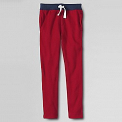 Lands' End - Red little boys' slim sweat pant