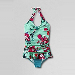 Lands' End - Multi girls' sea garden skirted swimsuit