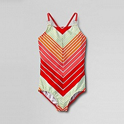Lands' End - Multi little girls' smart swim swimsuit