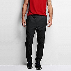 Lands' End - Black men's active windward track trousers