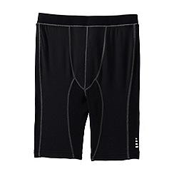 Lands' End - Black sport compression shorts
