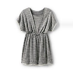 Lands' End - Grey girls' trim tunic cover-up