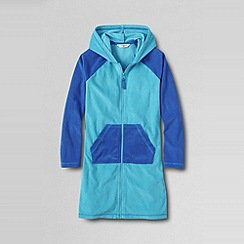 Lands' End - Blue little girls' hooded terry cover up