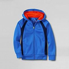 Lands' End - Blue little boys' long sleeve tricot hoodie