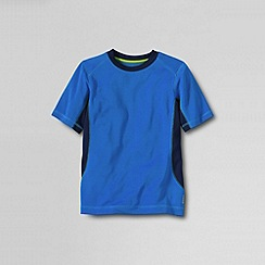 Lands' End - Blue little boys' short sleeve performance tee