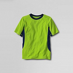 Lands' End - Green boys' short sleeve performance tee