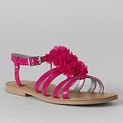 Lands' End - Pink girls' arabella flower dress sandals